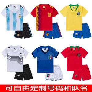 儿童<span class=H>足球</span>服套装男童<span class=H>训练服</span>小学生队服童装球衣梅西内马尔球衣夏季
