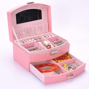 首饰盒公主欧式韩国木质带锁双层饰品盒戒指盒手饰品收纳盒<span class=H>珠宝</span>盒