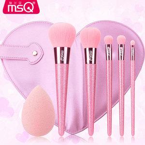 MSQ/魅丝蔻5支少女心化妆刷套装 刷子化妆全套<span class=H>美妆</span>刷子便携带刷包