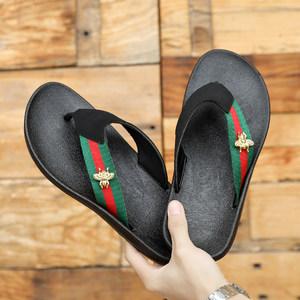 人字拖男凉拖夹脚<span class=H>拖鞋</span>男士夏季潮流防滑时尚室外穿沙滩鞋个性休闲