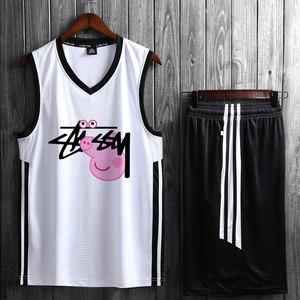 透气篮球服套装定制球衣男女学生队服篮球衣训练服运动<span class=H>背心</span>比赛服