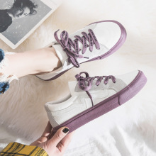 Canvas shoes female 2019 spring new students Korean version of Harajuku ulzzang low to help small white shoes wild shoes