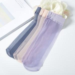 5双装 <span class=H>超薄</span><span class=H>短款</span><span class=H>丝袜</span> 夏季女款隐形短袜子 薄款透明水晶袜肉色黑色
