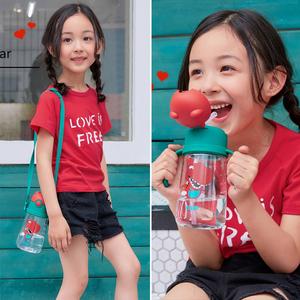 韩国杯具熊儿童水杯吸管杯宝宝幼儿园防摔小学生<span class=H>水壶</span>夏季可爱卡通