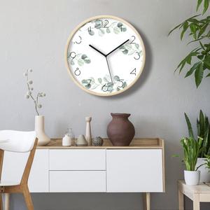 实木静音钟表北欧挂钟客厅创意艺术石英钟木质挂表简约现代卧室