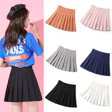Hundred-pleated skirt women in spring and summer of 2019 new high waist A-shaped skirt college wind ins super-hot Korean version of Hundred-set half-length skirt