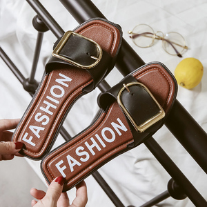 凉拖鞋女士2018夏季新款韩版外穿<span class=H>时尚</span>百搭平底学生家居一字拖软底