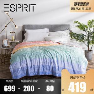 ESPRIT桑蚕丝被空调被芯 莱赛尔被套60S天丝夏凉被薄<span class=H>被子</span>可水洗