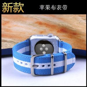 适用apple watch1/23/4<span class=H>表带</span>商务休闲<span class=H>苹果</span>iwatch2<span class=H>手表</span><span class=H>表带</span>帆布尼龙