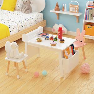 幼儿园儿童学习桌椅套装ins写字游戏玩具<span class=H>书桌</span>绘画画桌小桌子宝宝