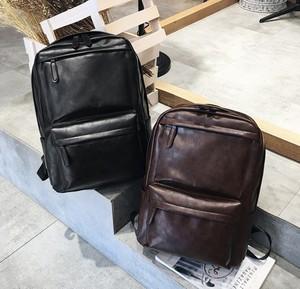 男双肩包韩版休闲潮流旅行电脑大背包pu皮女个性时尚简约学生书包
