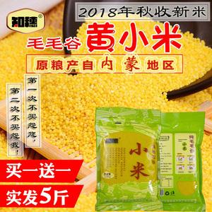 18年小黄米新米月子小米<span class=H>粗粮</span>小米粥杂粮米脂黄小米特产5斤包邮