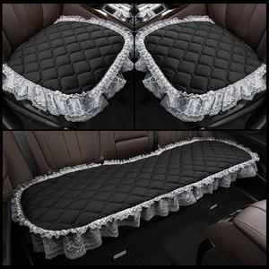 汽车坐垫单片短毛绒后排<span class=H>座垫</span>四季通用无靠背冬季用品三件套车垫子