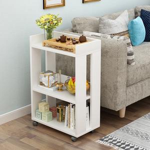 现代简约木质儿童书柜落地小<span class=H>书架</span>可移动办公室简易置物架