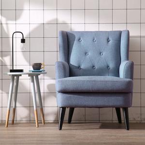 北欧单人沙发懒人小户型简约现代阳台卧室客厅美式休闲布艺<span class=H>沙发椅</span>
