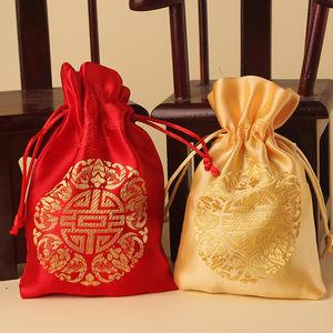 包糖果的袋子装<span class=H>喜糖</span>的大袋子礼盒空盒包装喜带结婚喜带婚庆满月用