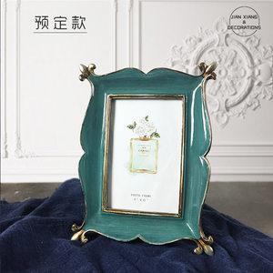 美式复古乡村6寸相框欧式以上怀旧相架画框摆件树脂礼品相框定制