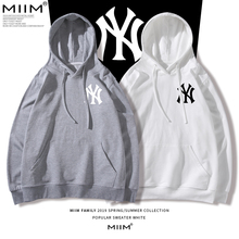 European and American super-hot CEC trend brand NY Yankees new long-sleeved guard women ins trend men's couples wear thin autumn and winter clothes