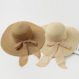 韩国<span class=H>草帽</span>女夏大檐防晒出游度假沙滩帽子海边防紫外线遮阳波西米亚