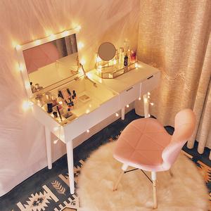 化妆台女卧室 现代简约小户型北欧翻盖<span class=H>梳妆台</span>网红ins经济型化妆桌