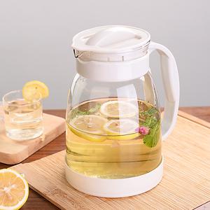 玻璃<span class=H>冷水壶</span>耐高温凉水壶家用花茶壶大容量凉白开水壶果汁壶
