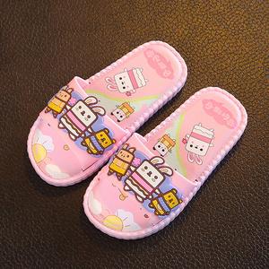 儿童拖鞋夏季宝宝凉托鞋女童可爱小公主室内防滑软底亲子中大<span class=H>童鞋</span>