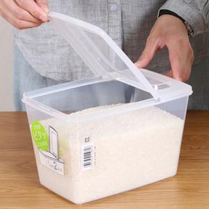 日本进口米桶家用储米箱防虫防潮密封米桶食物杂粮收纳罐面粉桶3L