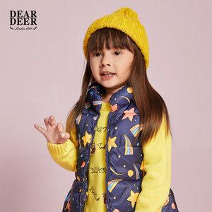 迪迪鹿童装婴童女小童<span class=H>棉衣</span>背心2018冬季新款儿童保暖休闲棉服