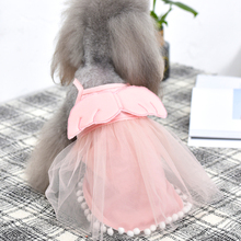 Pet dog clothes, wing Princess skirt, summer thin cotton Teddy tea cup, small dog, cat, MIBI bear