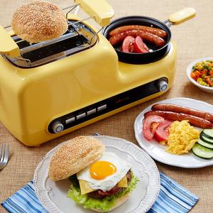 小熊烤<span class=H>面包机</span>家用2片多功能全自动吐司机煎煮蒸蛋机多士炉早餐机