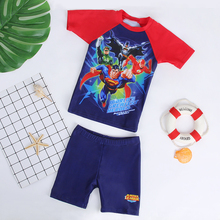 Superman Children's Swimming Suit Male Speed Dry Sunscreen Boys'Connected Boys' Swimming Suit Adult Children's Swimming Suit Baby Children's Swimming Suit