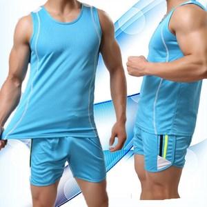 纯棉运动套装男跑步健身<span class=H>背心</span>短裤两件套宽松亲肤爽滑速干休闲<span class=H>服装</span>