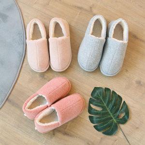 情侣棉<span class=H>拖鞋</span>女全包跟男室内厚底冬加绒加厚家用月子鞋保暖产后秋冬