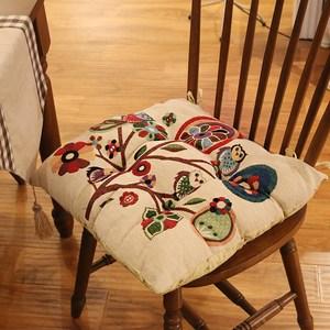 经典美式复古乡村全棉四季椅垫餐椅<span class=H>坐垫</span>套纯棉布艺居家<span class=H>坐垫</span>多色选