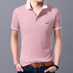 夏季潮流<span class=H>男装</span>衬衫领<span class=H>POLO衫</span>2019新款有带领短袖T恤男翻领半袖衣服