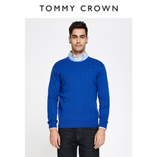 TOMMY CROWN Men's T-shirt with round collar is fashionable, leisure, comfortable and soft sweater T40353874