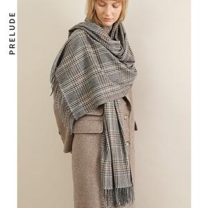 PRELUDE/言篇 女士服饰配件  长方形英伦风格子<span class=H>围巾</span>2002
