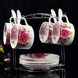 咖啡杯套装家用英式中式西餐盘礼盒装意式可爱<span class=H>茶杯</span>优雅白色小号