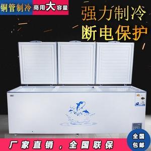 大冰柜商用大容量卧式单双温节能超大海鲜肉雪糕保鲜柜冷冻冷藏柜