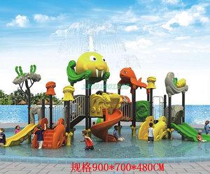 水组合溜<span class=H>滑梯</span>玩具设备儿童水上乐园小孩喷戏室内户外<span class=H>游泳池</span>馆大型