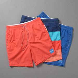 夏季男士夏威夷度假<span class=H>沙滩</span>裤运动修身休闲海边冲浪游泳速干短裤薄款