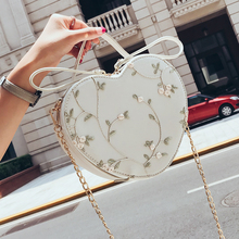 Shangxin Baggage Girl 2019 New Chao Han Baitao Slant Chain Lace Single Shoulder Hand-held Girl Baggage