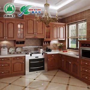 郑州露水河整体<span class=H>橱柜</span>定做复古厨房厨柜美式实木门板订做全屋定制