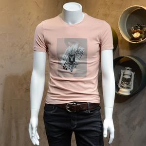 单身汉 青年男短袖T恤衫2018夏装新款修身版男士潮流百搭棉半袖T