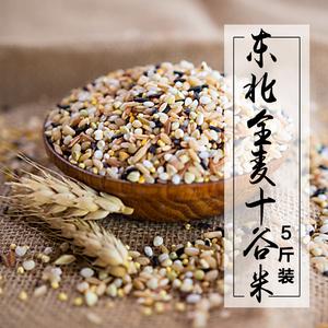 东北全麦十谷米饭5斤 五谷杂粮<span class=H>粗粮</span>健身新米糙米饭养生粥原料豆浆