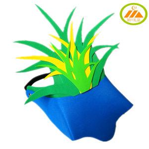 儿童节小草头饰花草树叶头套大自然植物帽子eva幼儿园表演道具