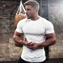 Bottom T-shirt Fitness Exercise Short-sleeved Men's Round-collar Half-sleeve Sports Running Sweat Absorption Conventional Pure Cotton Breathing