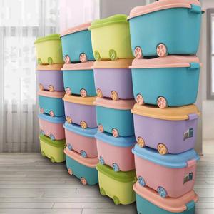 特大号玩具收纳箱儿童卡通整理箱塑料衣服储物箱宝宝衣物储蓄箱子