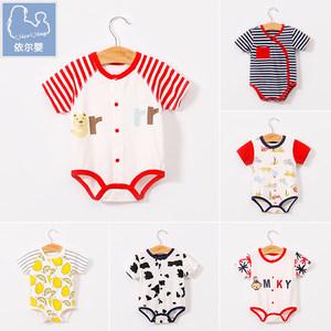 婴儿衣服夏季装新生儿0-3-6个月宝宝<span class=H>纯棉</span>连体衣薄<span class=H>三角</span><span class=H>哈衣</span>包屁衣