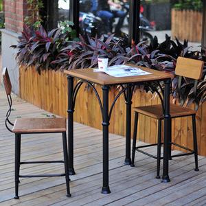 美式乡村<span class=H>住宅</span><span class=H>家具</span>铁艺<span class=H>餐桌</span>餐椅组合快餐厅咖啡咖啡馆休闲桌椅方桌